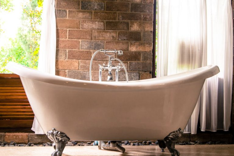 Eine Vintage-Badewanne