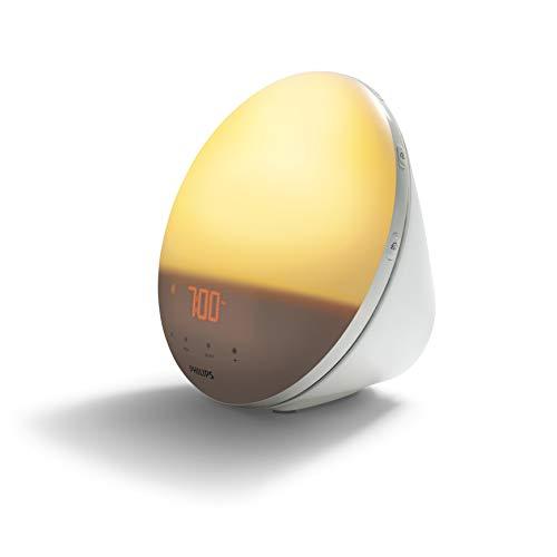 Philips HF3531/01 Wake-Up Light (Sonnenaufgangfunktion, Touchdisplay, 7 Wecktöne, digitales FM Radio, Tageslichtwecker)