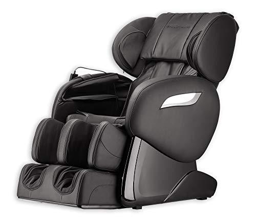 Home Deluxe - Massagesessel - Sueno schwarz V2 - inkl. komplettem Zubehör | Relaxsessel Fernsehsessel Heizsessel