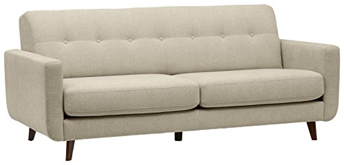 Amazon Marke -Rivet Sloane Modernes, getuftetes Sofa im Stil der 1950er Jahre, B 206cm, Muschel