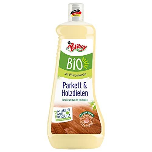 Poliboy - Bio Parkett und Holzdielen Pflege - Pflege und Schutz für wertvolle Holzböden - Vegan - 1 Liter - Made in Germany