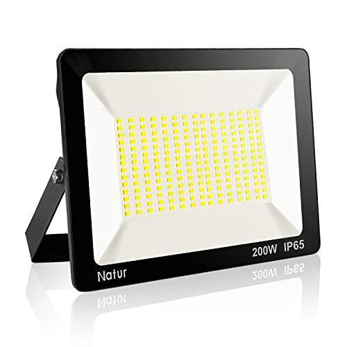 200W LED Strahler Wasserdicht 20000LM LED Fluter 3500K IP65 Warmweiß für außen und innen Extraflach Flutlicht LED Strahler Außen Outdoor-Sicherheitsleuchte Außenstrahler