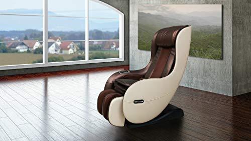 Massagesessel WELCON EASYRELAXX in beige braun mit Automatikprogrammen sowie manueller 3D Massage vom Nacken bis unter die Oberschenkel