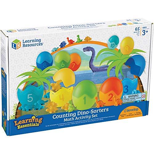 Learning Resources LER1768 Dino-Sortierfiguren zum Zählen–Mathematik-Spielset