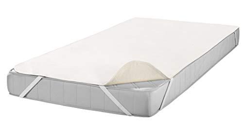SETEX Molton Matratzenschutz, 80 x 200 cm, Eckgummis, 100 % Baumwolle, Basic, Naturfarben, 1607080200001002