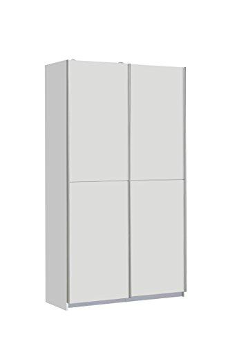 FORTE Ohio Mehrzweckschrank, Holzwerkstoff, Weiß, 120 x 42 x 190.50 cm