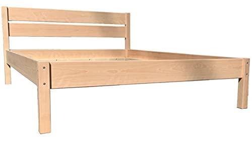 LIEGEWERK Buche Massivholzbett Buche Bett Holzbett mit hohem Kopfteil 2K Holz 90 100 120 140 x 200cm hergestellt in BRD (140cm x 200cm)
