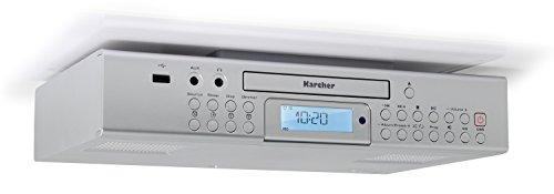Karcher RA 2050 Unterbauradio (UKW-Radio, CD-Player, USB, USB-Charger, Countdown-Timer, Fernbedienung) silber
