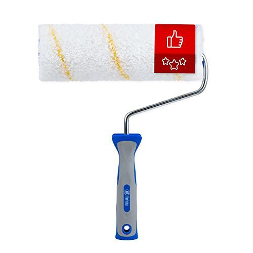 MAROW® Farbroller I 100% thermofusionierte Polyamid Malerrolle I 25cm Farbwalze mit ausgezeichneter Farbaufnahme - und abgabe für Wandfarben