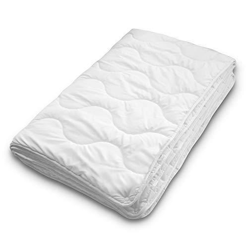 Siebenschläfer 4-Jahreszeiten Bettdecke 135x200 cm - bestehend aus 2 zusammengeknöpften Steppdecken - adaptierbare Decke für Sommer und Winter (135 x 200 cm - 4 Jahreszeiten Bettdecke)
