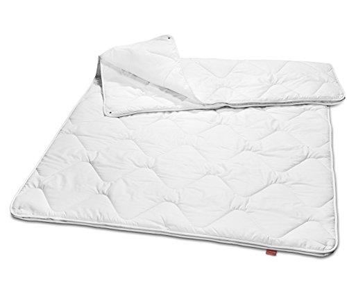 sleepling 190042 Basic 160 Bettdecke Mikrofaser 4-Jahreszeiten 135 x 200 cm, weiß
