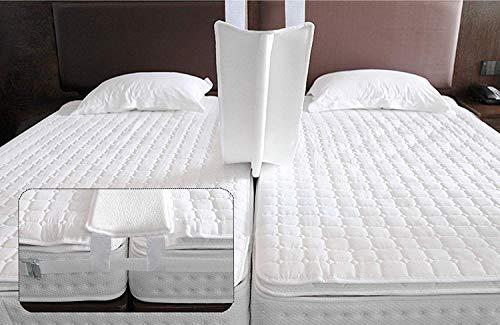 Qucover Liebesbrücke 200 cm mit Spanngurt, Ritzenfüller für Matratzen 200cm, Spanngurt für Matratzen, Doppelbett Bettbrücke Breite 20cm, Bed Bridge