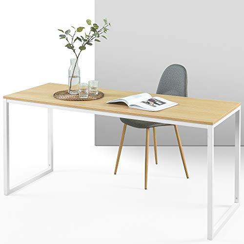 ZINUS Jennifer 160 cm | Laptoptisch | Homeoffice Schreibtisch | Einfache Montage | Metallrahmen | Natur