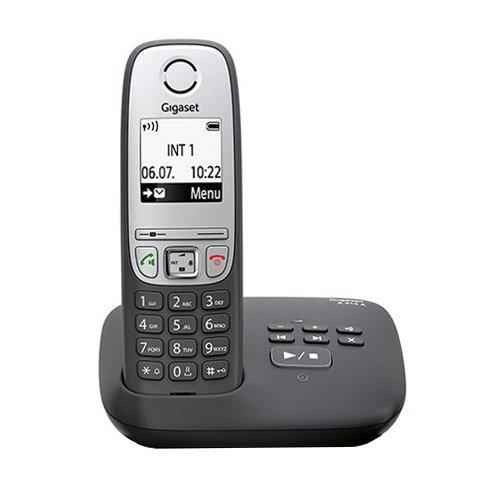 Gigaset A415A Schnurloses-/DECT Telefon (mit Anrufbeantworter, mit Freisprechfunktion, Grafik Display und leichter Bedienung) schwarz