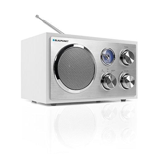 Blaupunkt Küchenradio RXN 19, UKW Radio Empfang, kleines Radio mit Netzstecker und Kabel, einfache Bedienung über Dreh Regler, mit USB-Port, SD Kartenleser, Analog-Tuner und Teleskop-Antenne, weiß