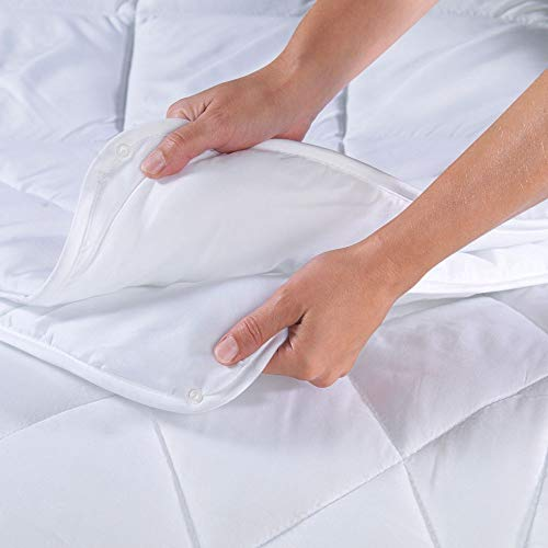 Dreamhome 4-Jahreszeiten Bettdecke 135x200 bestehend aus 2 Steppdecken mit Druckknöpfe, als Winter und Sommer Decke geeignetes Oberbett