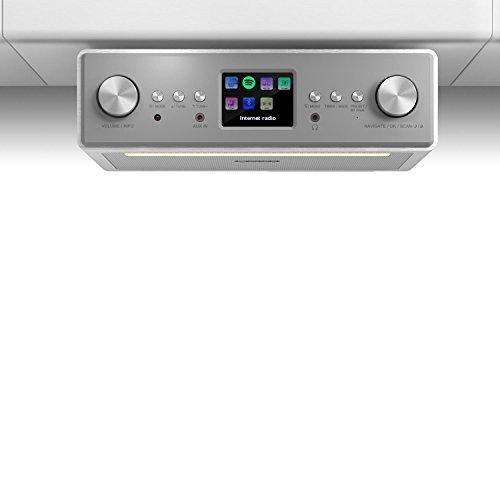 auna TESTURTEIL: SEHR GUT Connect Soundchef - Unterbau-Radio, Küchenradio, Unterbau-Digitalradio, DAB+, UKW, WLAN, 2 x 3-Boxen, 10 Senderspeicherplätze, Fernbedienung, weiß