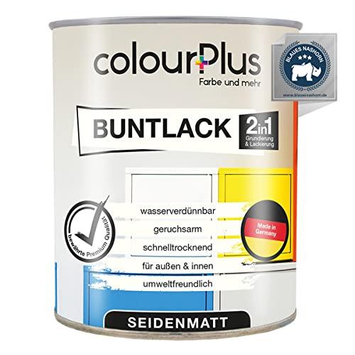 colourPlus®️ 2in1 Buntlack (750ml, RAL 7016 Anthrazitgrau) seidenmatter Acryllack - Lack für Kinderspielzeug - Farbe für Holz - Holzfarbe Innen - Made in Germany