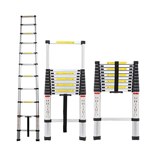 3,2m Aluminium Mehrzweckleiter Teleskopleiter Ausziehbar Leiter Klappleiter Anti-Rutsch Stufen Multifunktionsleiter Trittleiter 150KG Belastbarkeit