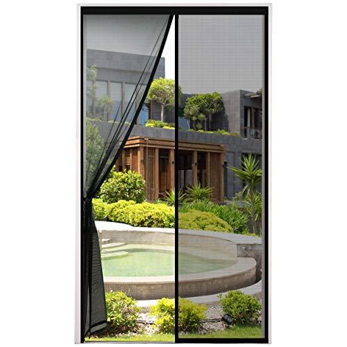 Magnet Fliegengitter Tür Insektenschutz Magnetvorhang Ideal für Balkontür, Kellertür und Terrassentür schwarz 90*210cm