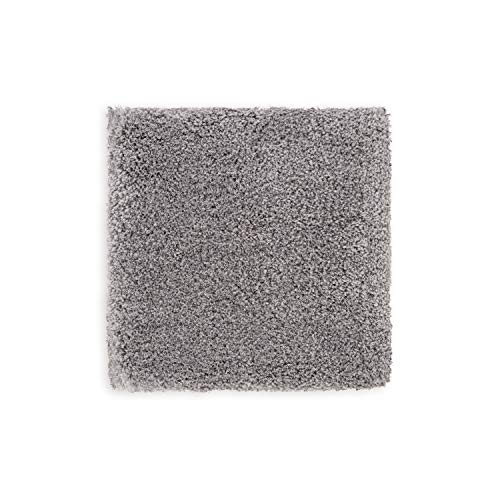 WohnDirect Premium Hochflor Badezimmerteppich Grau • Rutschfester & Extra Flauschiger Badvorleger • Badteppich, Badematte 45 x 45 cm