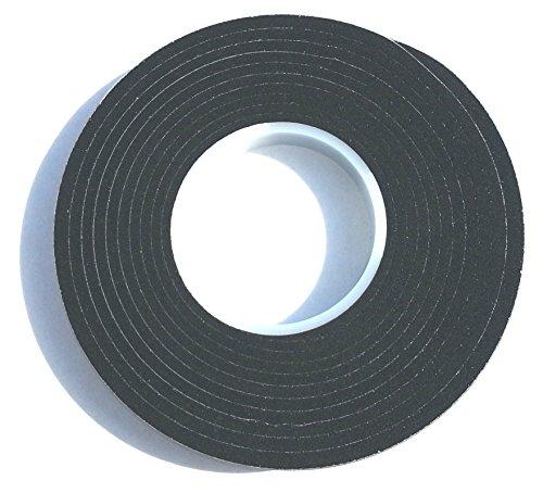5,6m Komprimierband 20/6 Bandbreite 20mm, Acryl 300, expandiert von 6 auf 30mm, anthrazit, vorkomprimiertes selbstklebendes Dichtungsband Kompriband Fugendichtband Fensterdichtband Quellband